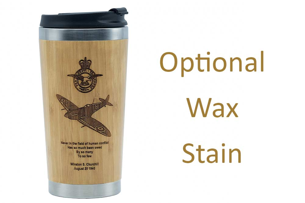 Spitfire travel mug waxed