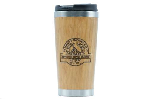 Support the Veterans Banger Rally - purcahse this travel mug